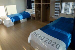 Tokyo 2020 Olympic Village beds Copyright IOC.jpg